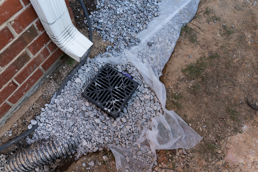 how to install a drainage catch basin